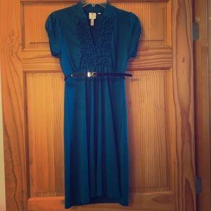 Blue/green fall dress. Size small